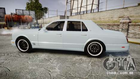 Bentley Arnage T 2005 Rims1 Chrome para GTA 4 esquerda vista