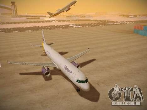 Airbus A321-232 Monarch Airlines para GTA San Andreas vista traseira