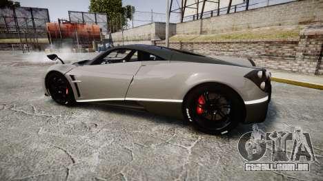 Pagani Huayra 2013 Carbon para GTA 4 esquerda vista