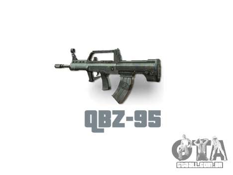 Máquina QBZ-95 icon3 para GTA 4 terceira tela