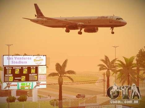Airbus A321-232 jetBlue Do-be-do-be-blue para GTA San Andreas vista inferior