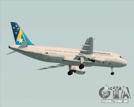 Airbus A320-200 Ansett Australia para GTA San Andreas vista traseira