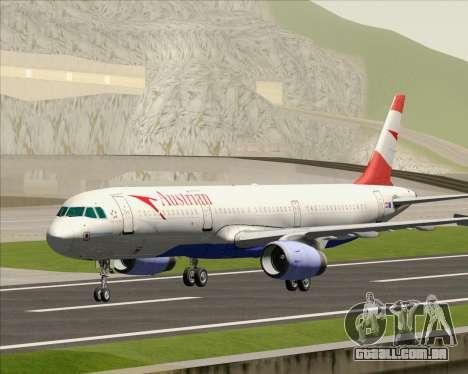 Airbus A321-200 Austrian Airlines para GTA San Andreas esquerda vista