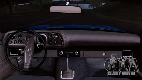 Chevrolet Camaro Z28 1970 (HQLM) para GTA San Andreas vista direita