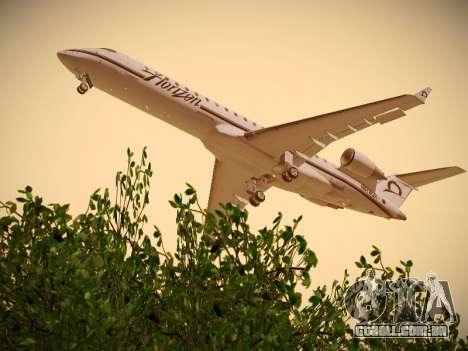 Bombardier CRJ-700 Horizon Air para GTA San Andreas vista direita