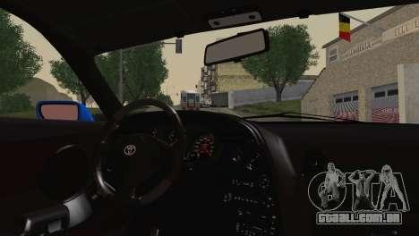 Toyota Supra Twin Turbo para GTA San Andreas traseira esquerda vista