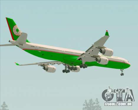 Airbus A340-600 EVA Air para as rodas de GTA San Andreas