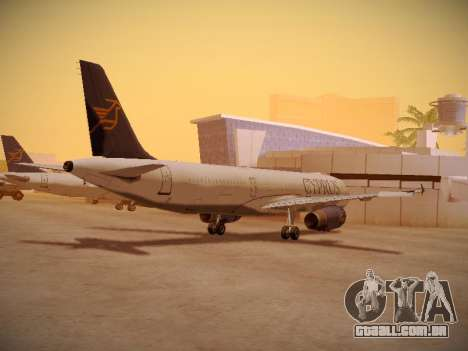 Airbus A321-232 Cyprus Airways para GTA San Andreas vista direita