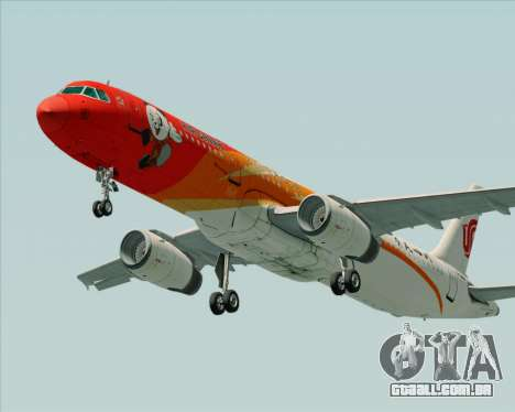 Airbus A321-200 Air China (Beautiful Sichuan) para GTA San Andreas esquerda vista