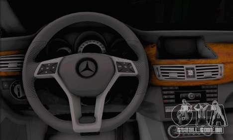 Mercedes-Benz CLS 63 para GTA San Andreas traseira esquerda vista