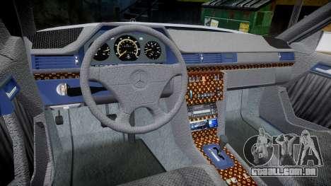 Mercedes-Benz E500 1998 Tuned Wheel Gold para GTA 4 vista de volta