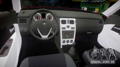 VAZ-2170 Priora rodas de liga leve para GTA 4 vista interior