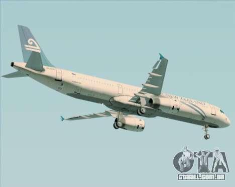 Airbus A321-200 Air New Zealand para GTA San Andreas vista inferior