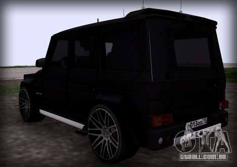 Brabus 800 para GTA San Andreas traseira esquerda vista