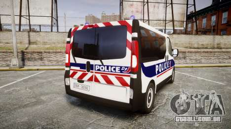 Renault Trafic Police Nationale para GTA 4 traseira esquerda vista
