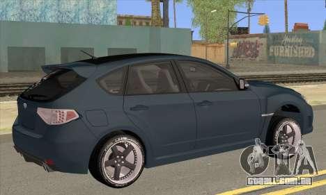 Subaru Impreza WRX STI 2008 para GTA San Andreas esquerda vista