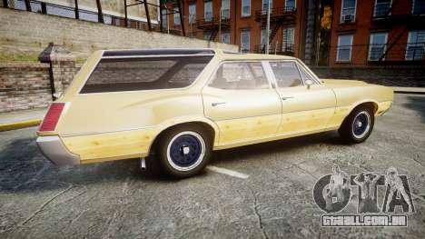 Oldsmobile Vista Cruiser 1972 Rims1 Tree5 para GTA 4 esquerda vista
