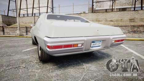 Pontiac Le Mans 1971 Rims2 para GTA 4 traseira esquerda vista