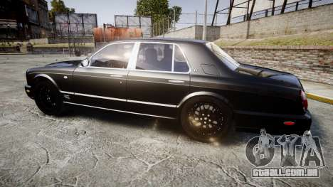 Bentley Arnage T 2005 Rims2 Chrome para GTA 4 esquerda vista