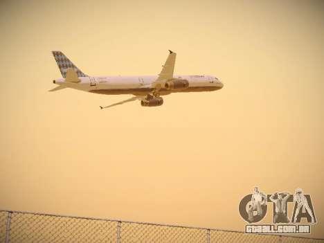 Airbus A321-232 jetBlue Airways para GTA San Andreas vista direita