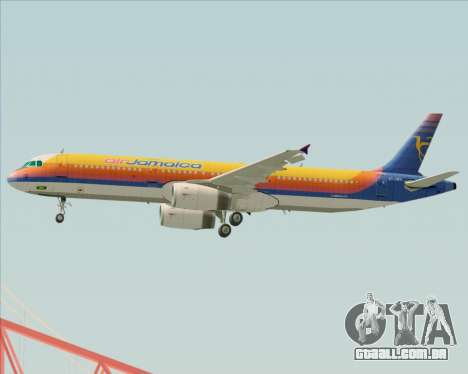 Airbus A321-200 Air Jamaica para o motor de GTA San Andreas