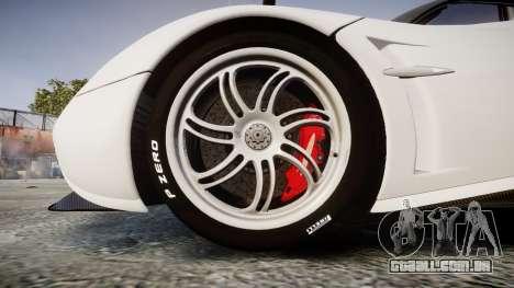 Pagani Huayra 2013 Carbon para GTA 4 vista de volta