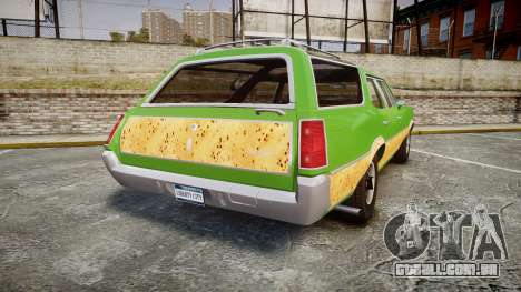 Oldsmobile Vista Cruiser 1972 Rims2 Tree6 para GTA 4 traseira esquerda vista