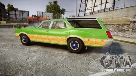 Oldsmobile Vista Cruiser 1972 Rims2 Tree6 para GTA 4 esquerda vista