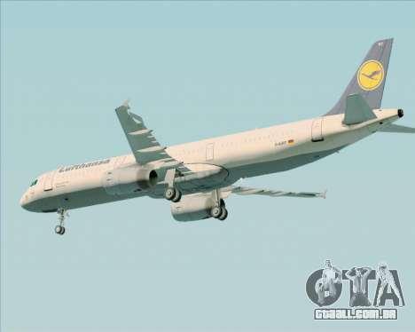 Airbus A321-200 Lufthansa para GTA San Andreas vista traseira