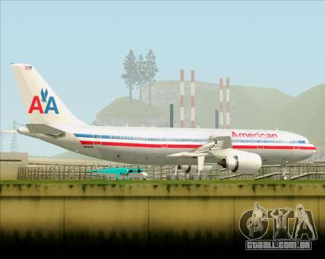 Airbus A300-600 American Airlines para GTA San Andreas vista superior