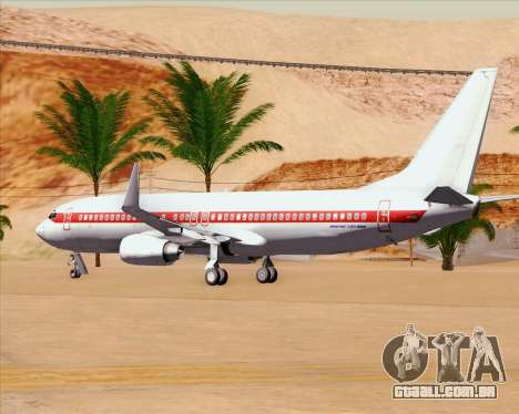 Boeing 737-800 EG&G - Janet para GTA San Andreas vista superior