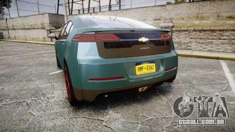 Chevrolet Volt 2011 v1.01 rims2 para GTA 4 traseira esquerda vista