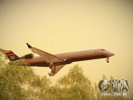 Bombardier CRJ-700 US Airways Express para GTA San Andreas interior