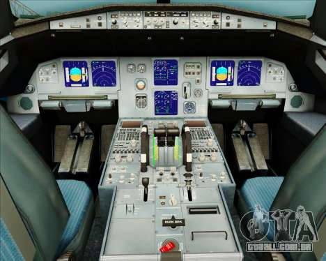 Airbus A321-200 American Pacific Airways para GTA San Andreas interior