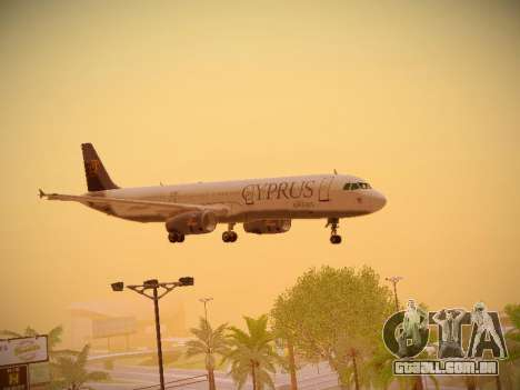 Airbus A321-232 Cyprus Airways para GTA San Andreas vista superior