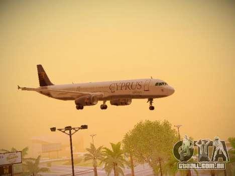 Airbus A321-232 Cyprus Airways para GTA San Andreas vista superior