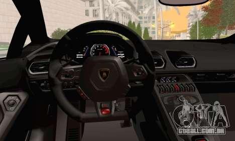 Lamborghini Huracan 2014 para GTA San Andreas vista direita