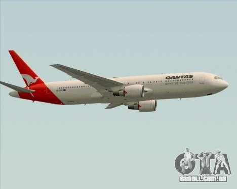 Boeing 767-300ER Qantas (Old Colors) para GTA San Andreas vista interior