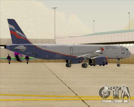 Airbus A321-200 Aeroflot - Russian Airlines para as rodas de GTA San Andreas