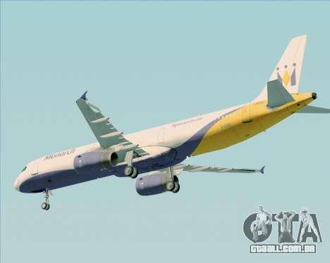 Airbus A321-200 Monarch Airlines para GTA San Andreas vista inferior