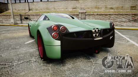 Pagani Huayra 2013 para GTA 4 traseira esquerda vista