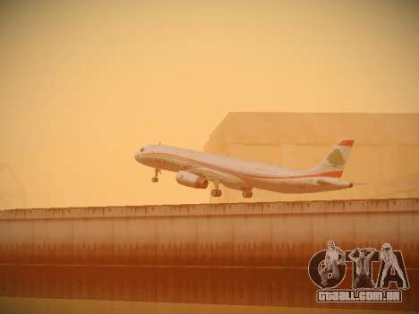 Airbus A321-232 Middle East Airlines para GTA San Andreas vista inferior