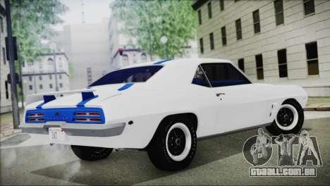 Pontiac Firebird Trans Am Coupe (2337) 1969 para GTA San Andreas esquerda vista