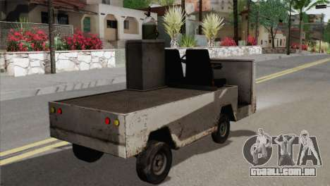 Umbrella Cart para GTA San Andreas traseira esquerda vista
