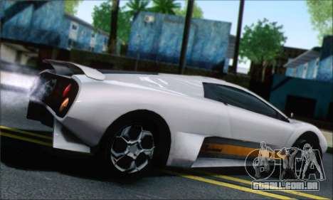 GTA 5 Infernus para GTA San Andreas esquerda vista