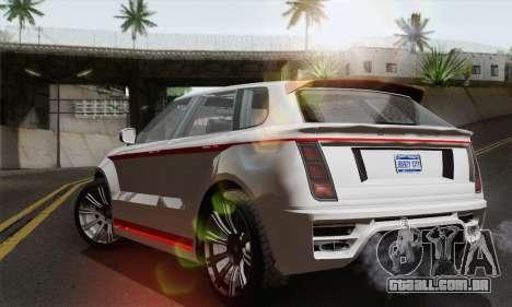 Huntley S para GTA San Andreas esquerda vista