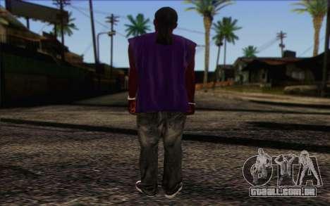 Ballas from GTA 5 Skin 1 para GTA San Andreas segunda tela