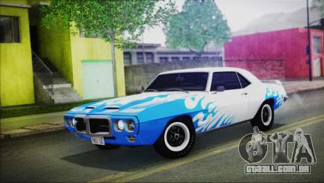 Pontiac Firebird Trans Am Coupe (2337) 1969 para GTA San Andreas vista superior