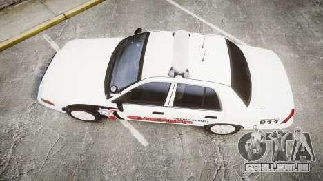 Ford Crown Victoria LC Sheriff [ELS] para GTA 4 vista direita