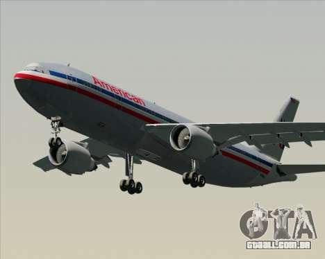 Airbus A300-600 American Airlines para GTA San Andreas esquerda vista